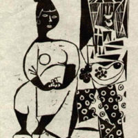 Female Study Linocut Prints