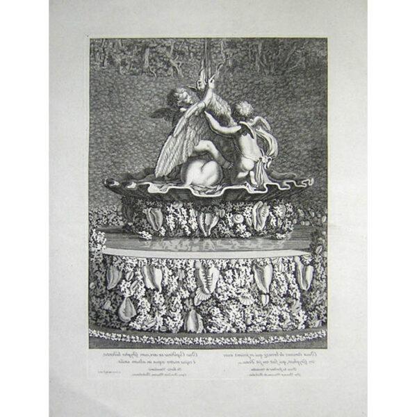 Counter proof of Deux amours de bronze qui se joüent avec un Gryphon