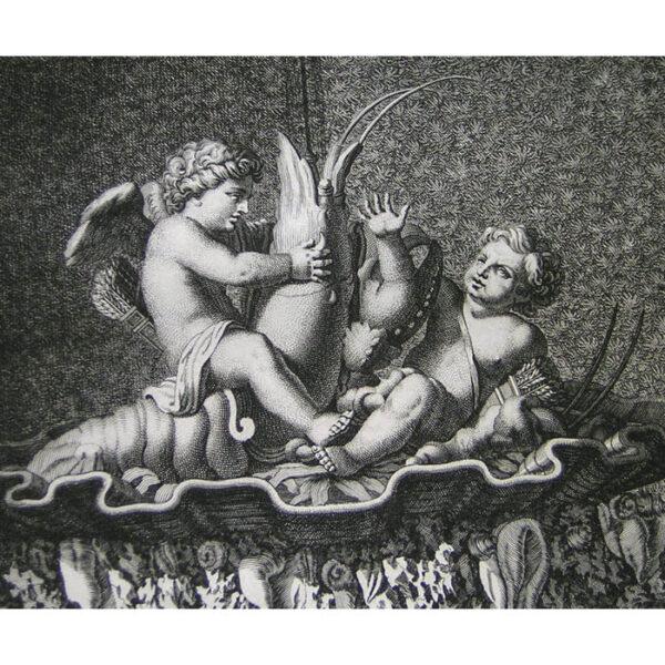 Deux amours de bronze, detail