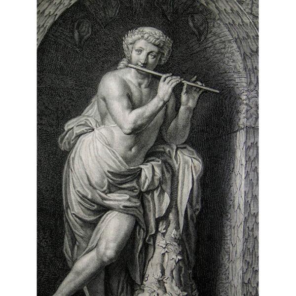 Statue d'Acis, de marbre blanc, detail