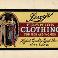 Fashion Illustration, Leroy's Clothing, Fifth Avenue, New York