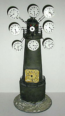 Clock, World Time, Lighthouse Form