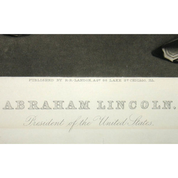 Abraham Lincoln, President of the United States, detail
