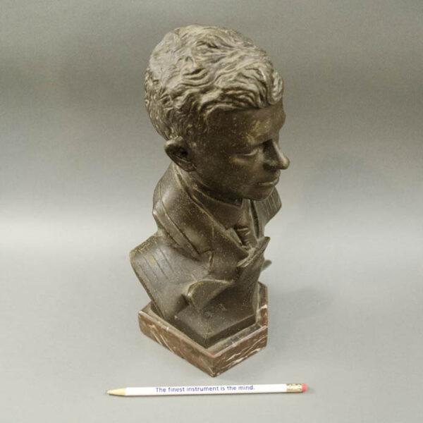 Charles Lindbergh Portrait Bust, detail