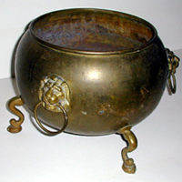 Brass Planter, Lion's Head