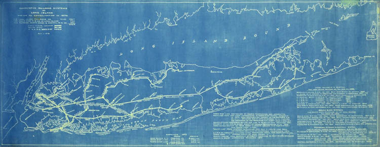 map long island railroad systems prior to 1876 blueprint