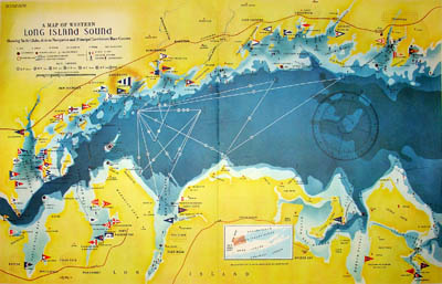 Map, Western Long Island Sound, Yachting Club