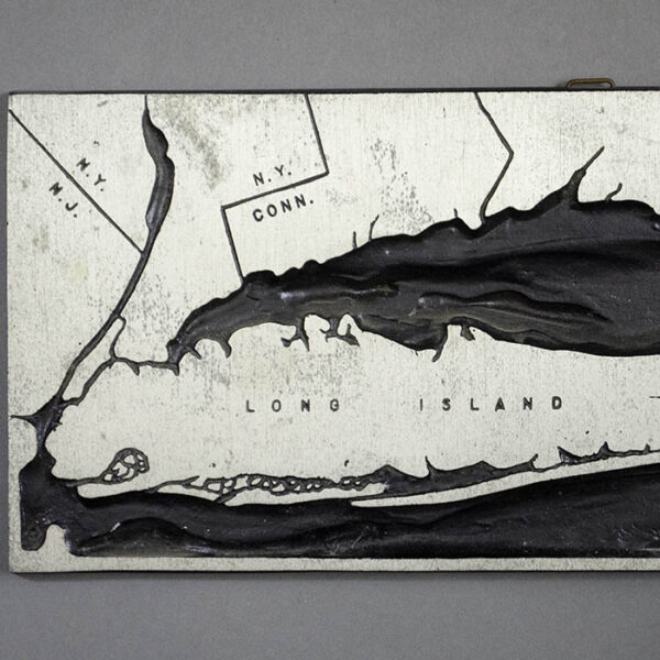Topographical Map, Long Island, detail