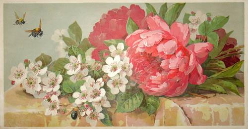 Pair of Botanical Floral Arrangements