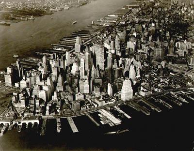 Birdseye View of Lower Manhattan