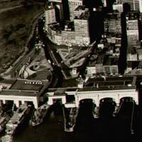 Birdseye View of Lower Manhattan, detail