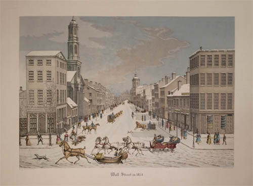 Wall Street in 1834 (Sold)
