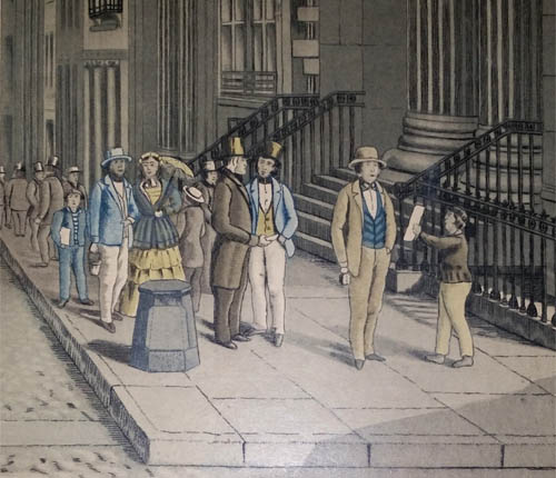 Wall Street in 1856, detail
