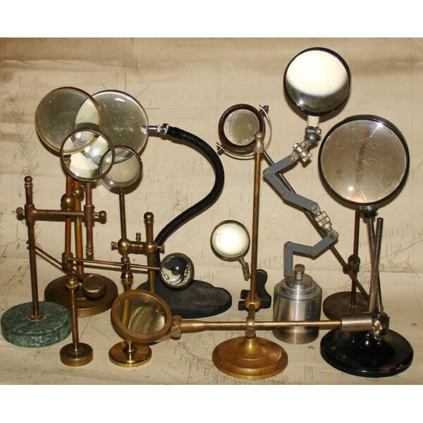 Decorative arrangement of lenses and magnifiers