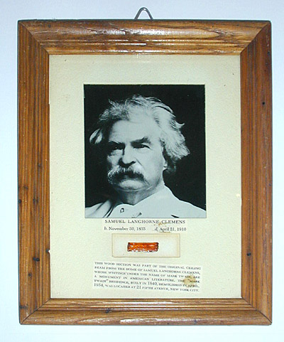 Relic from Mark Twain's House