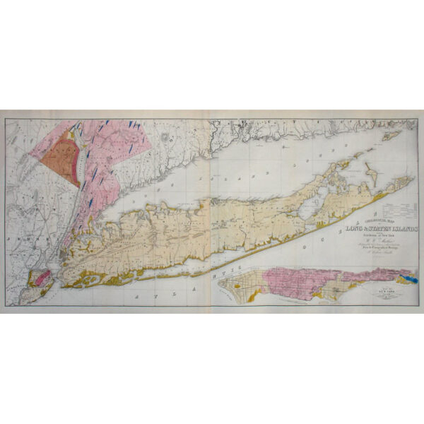 Geological Map of Long and Staten Island with the Environs of New York