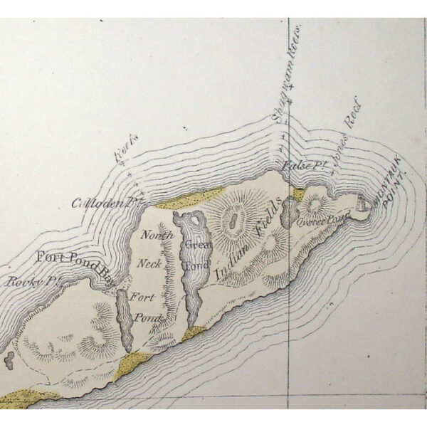 Geological Map of Long and Staten Island with the Environs of New York, detail