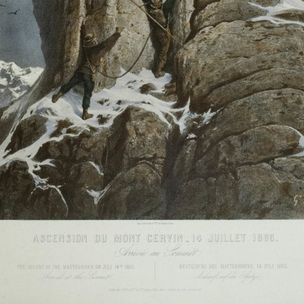 The Ascent of the Matterhorn, On July 14, 1865, detail