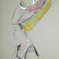 Lady in Large Headdress