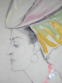 Lady in Large Headdress