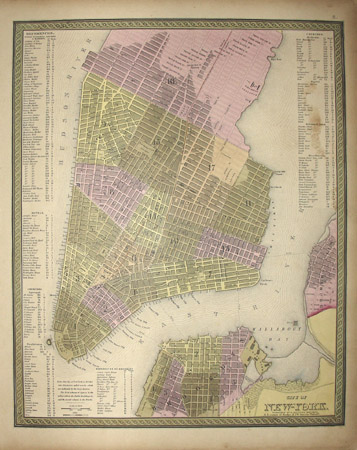 Map, New York City