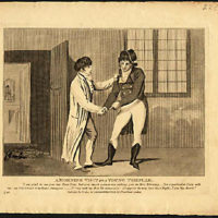 Morning Visit to A Young Templar, Satirical Masonic Print
