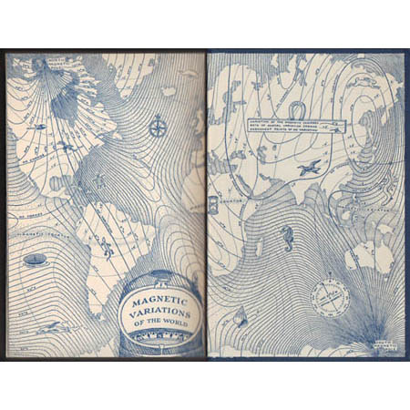Song of the Sky book endpapers showing the published version of this map.