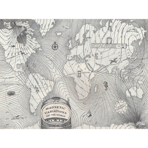 World Map, Magnetic Variations of the World