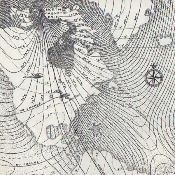 World Map, Magnetic Variations of the World, detail