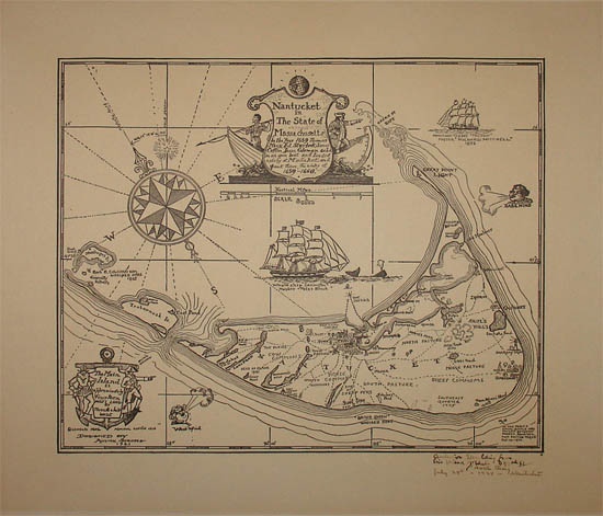 Pictorial Map, Nantucket in the State of Massachusetts
