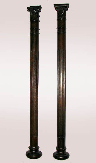 Wall Pilasters, Pair of Victorian Columnar