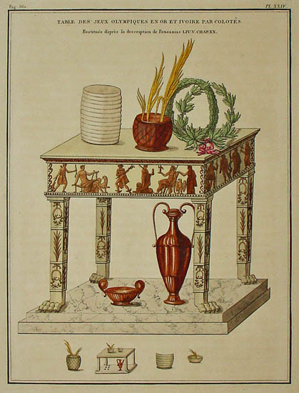 Table of Olympic Games in Gold and Ivory by Colotes