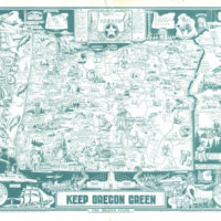 Pictorial Map, Keep Oregon Green: The Beaver State