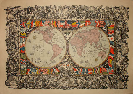 World Map, Double Hemisphere, This World of Ours