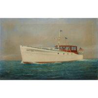 Yacht painting by Luigi Papaluca