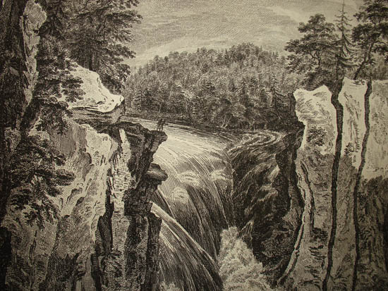 View of Falls on the Passaick in Province of New Jersey