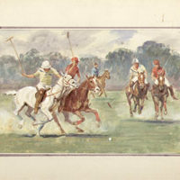 Watercolors of Polo Players