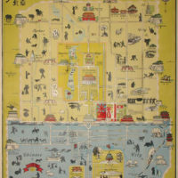 Pictorial Map, Peking, by John Kirk Sewall