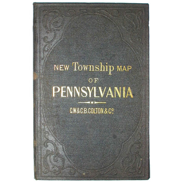 Colton's New Township Map of the State of Pennsylvania, cover