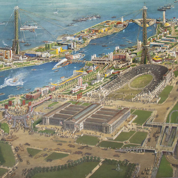 Bird's-eye View, 1933 Chicago World's Fair, detail