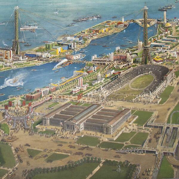 Bird's-eye View, 1933 Chicago World's Fair, detail