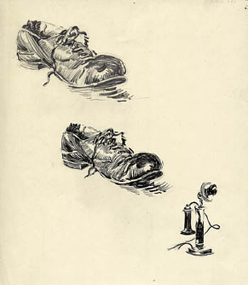 Studies of Shoe and Stick Telephone