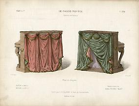 Pianos Drapés, Ornements de la maison Roussel et Laverlochère [Draped Pianos, Ornaments from the house of Roussel and Laverlochère]