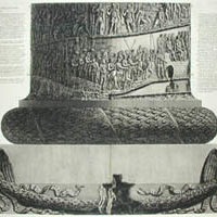 Piedestallo, e base della Colonna Trajana, Plate X [Top Portion of Pedestal and Base of Trajan's Column] Wilton-Ely No. 698 19 x 28 inches, plate mark 21.5 x 31.75 inches, overall Sold