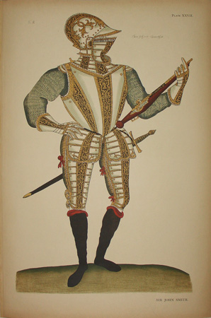 Historical Art Military Costume Elizabethan Suits of Armor Antique Prints 1905 & Historical Art Military Costume Elizabethan Suits of Armor ...