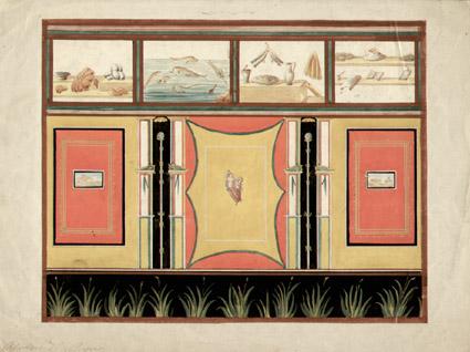 Pompeii Fresco, horizontal painting