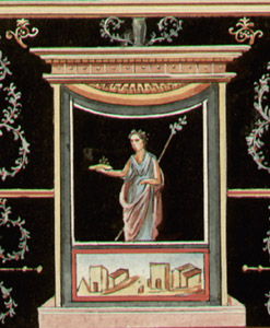 Pompeii Fresco, detail of vertical