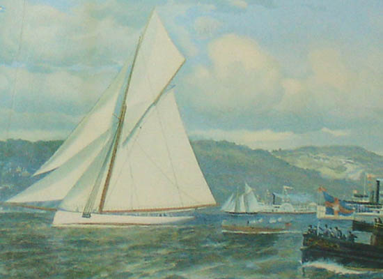 The Start: America's Cup Race off Staten Island, 1886