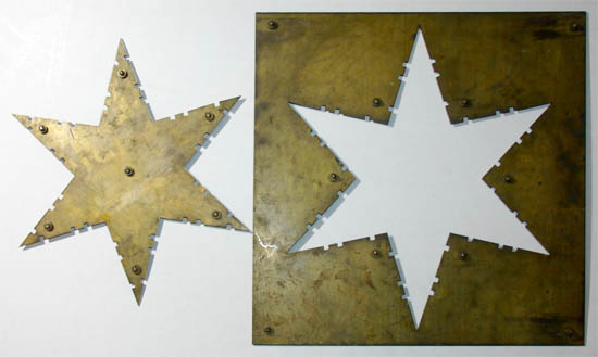 Apparatus, Psychological Testing, Six-Pointed Brass Star