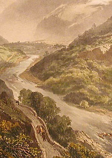 The Derwent River and Barrowdale, detail